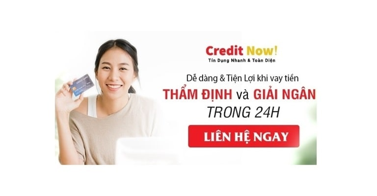 Vay tiền mặt online credit now